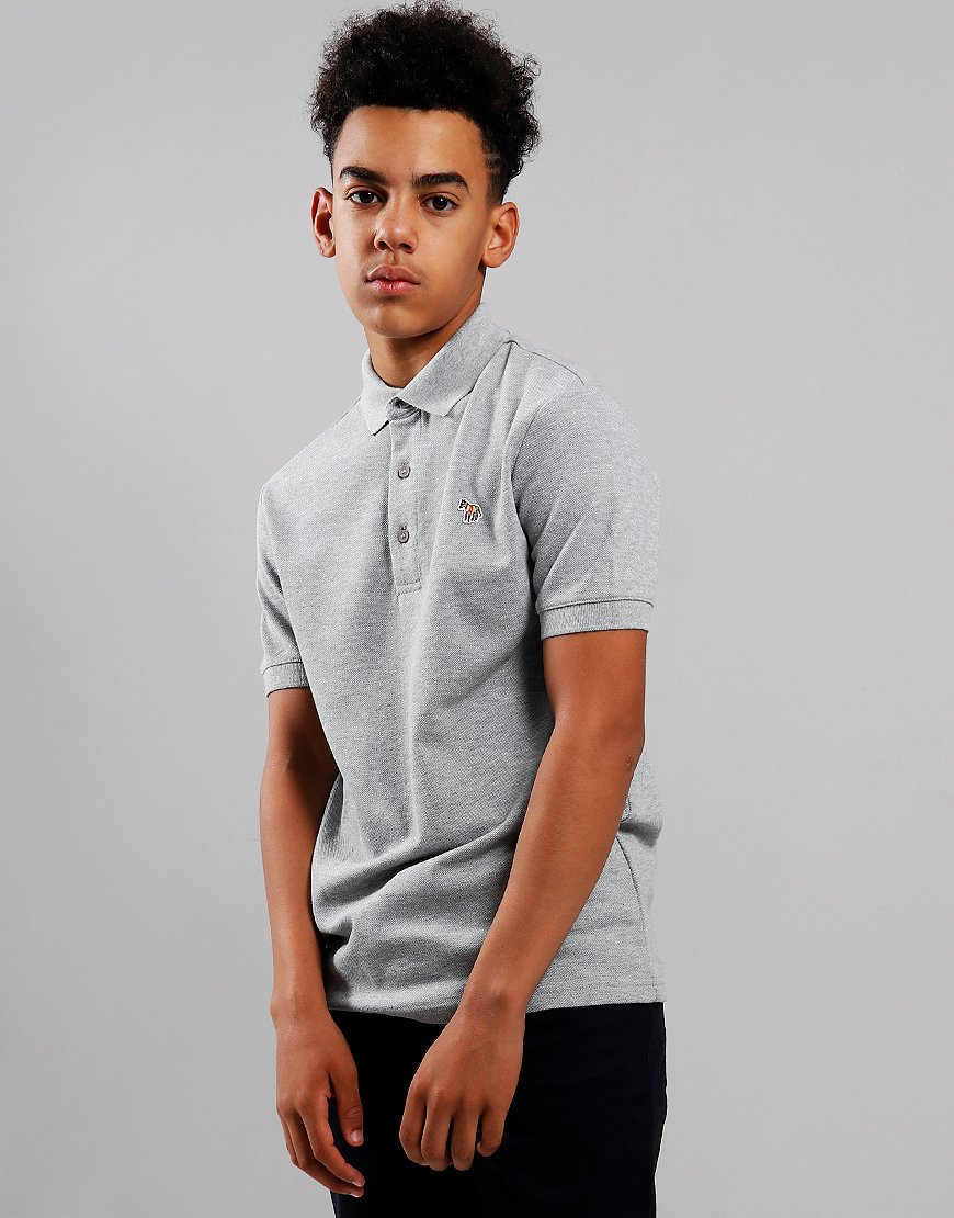 Paul Smith Junior Ridley Per Polo Shirt Marl Grey