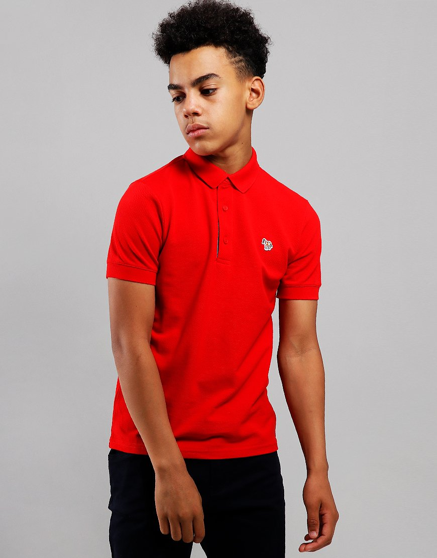Paul Smith Junior Ridley Per Polo Shirt Winter Red