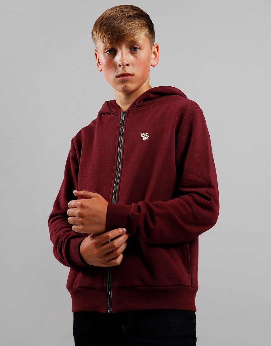 Paul Smith Junior Vaclav Zip Sweat Burgundy