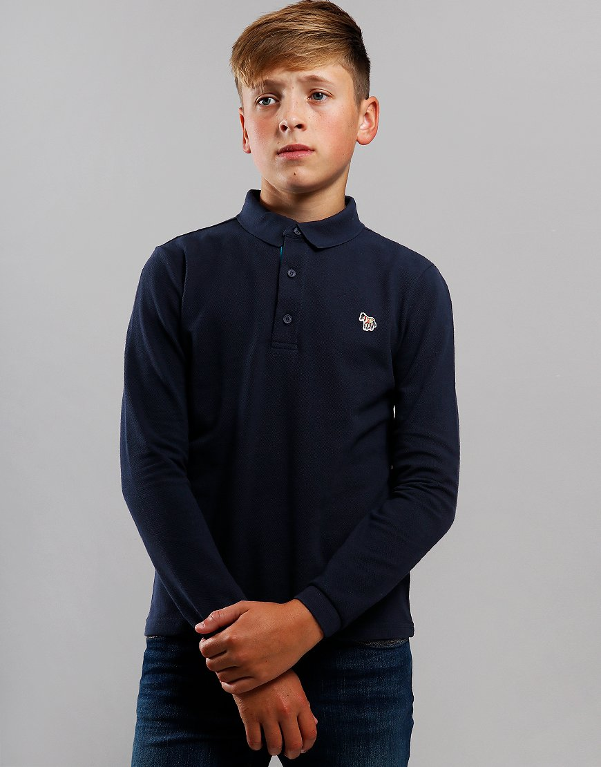 Paul Smith Junior Verino Long Sleeve Polo Shirt Navy