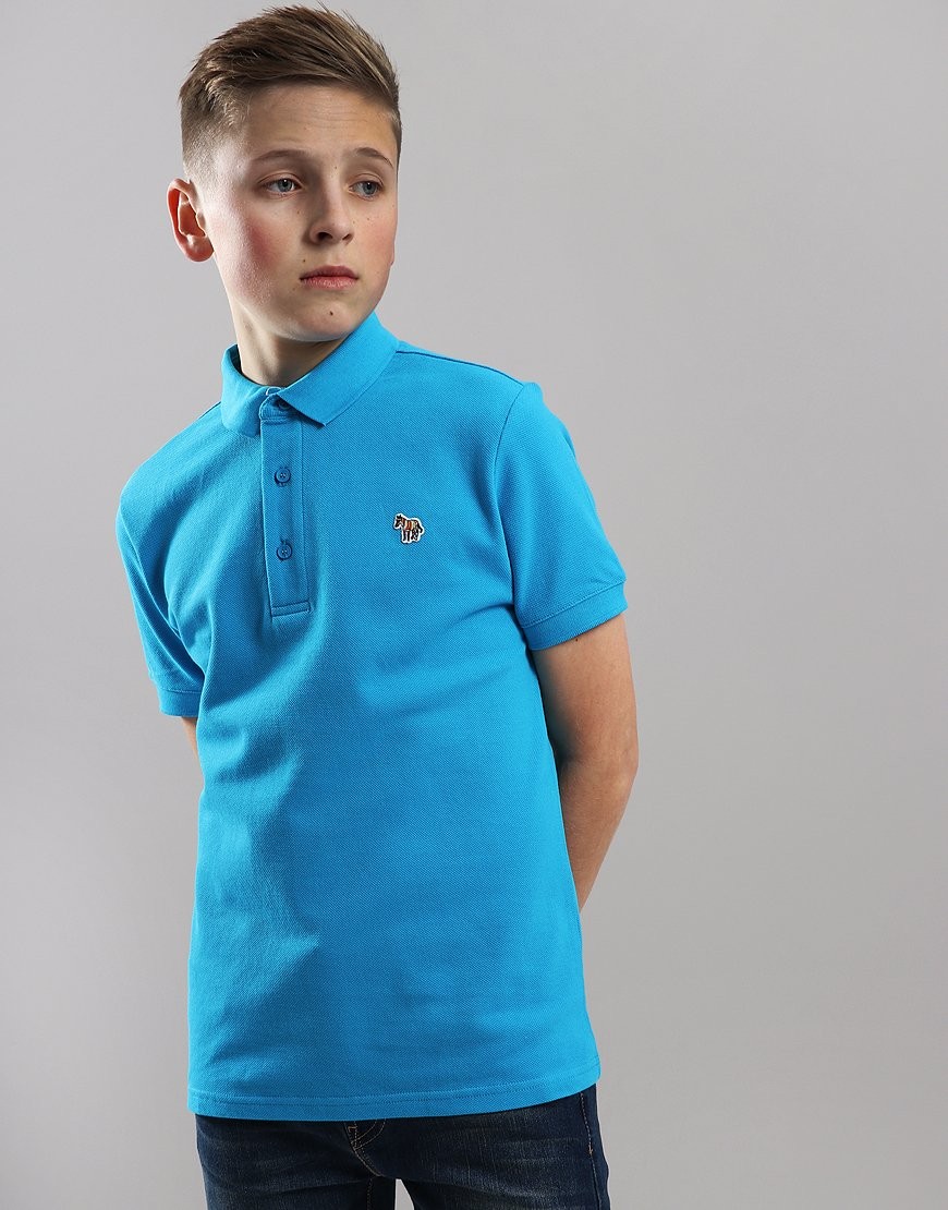 Paul Smith Junior Ridley Per Polo Shirt Blue Danube