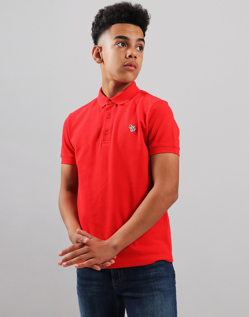 Paul Smith Junior Ridley Per Polo Shirt Fiery Red