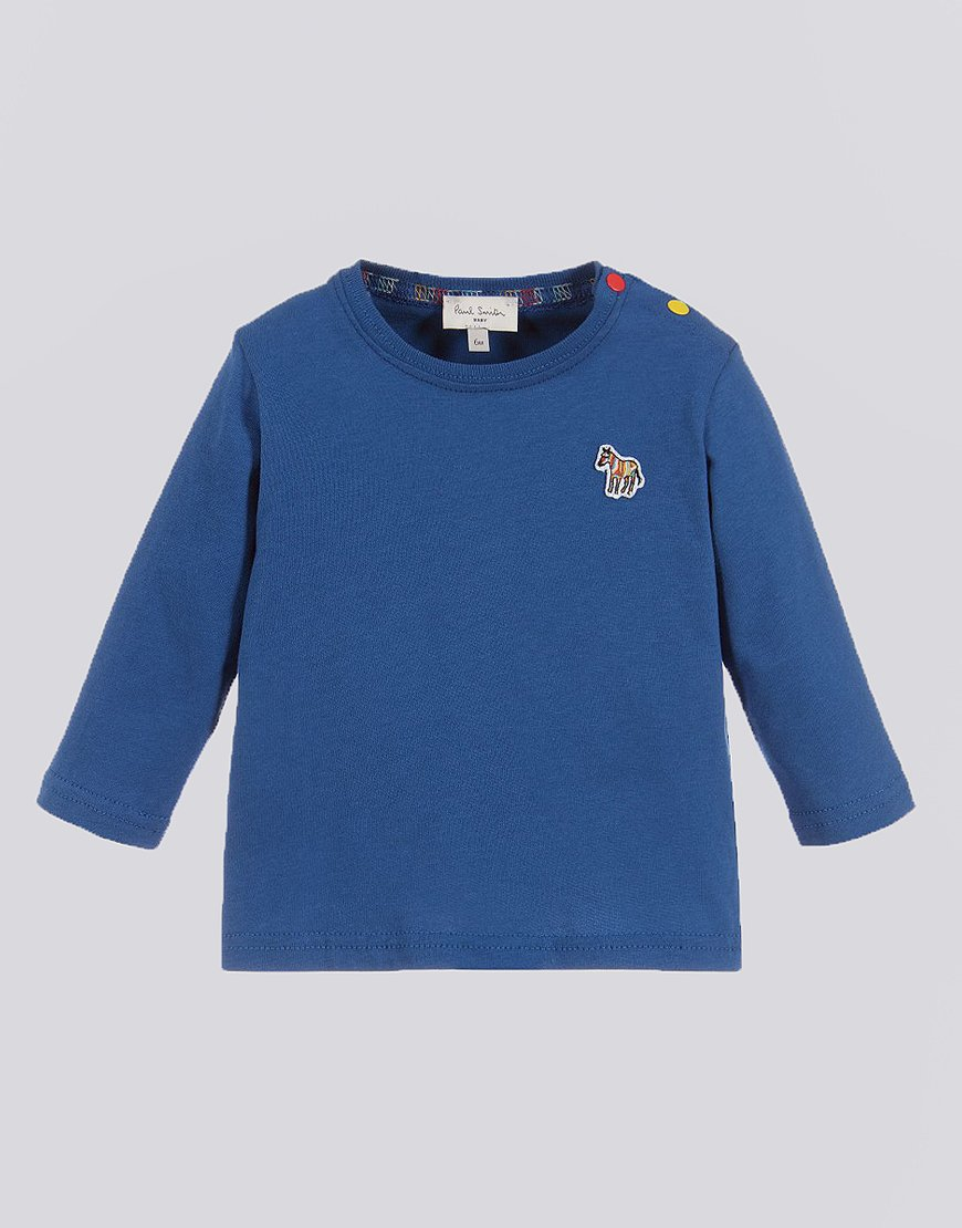 Paul Smith Junior Long Sleeve Sebi T-Shirt Medium Blue