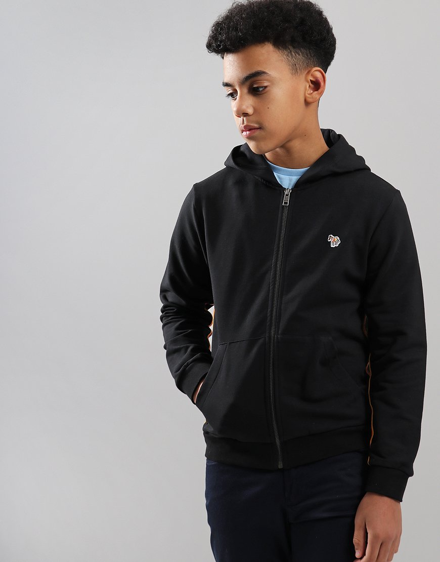 Paul Smith Junior Tanis Zip Hoodie Black