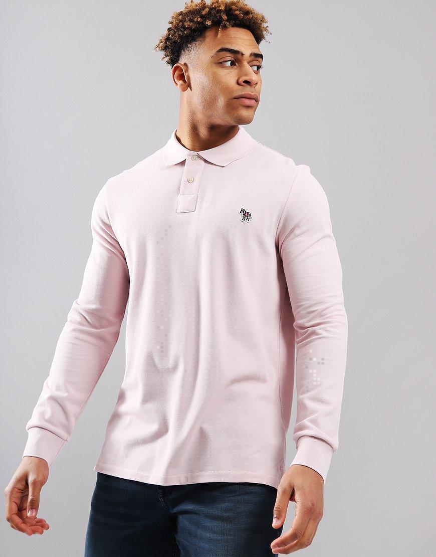 Paul Smith Long Sleeve Polo Shirt Pink
