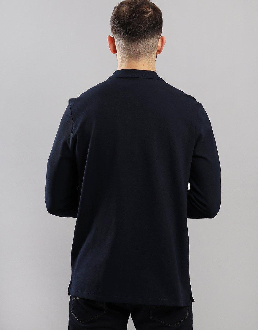 Paul Smith Long Sleeve Polo Shirt Dark Navy