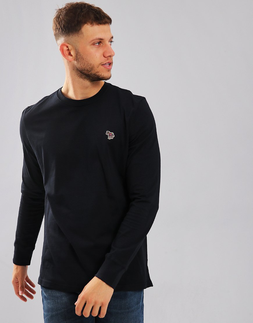28a7e4c3 Paul Smith Long Sleeved Regular Fit T-Shirt Dark Navy - Terraces Menswear