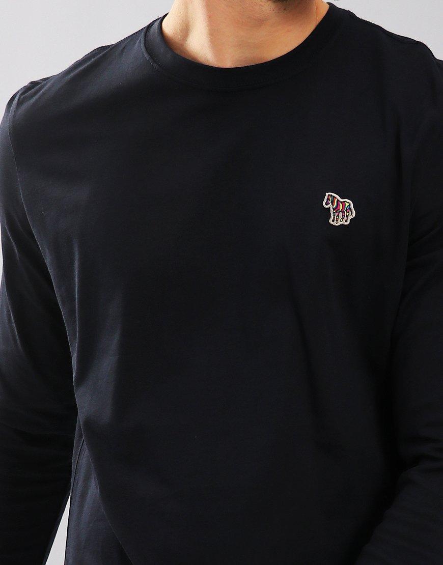 33b119d3 Paul Smith Long Sleeved Regular Fit T-Shirt Dark Navy - Terraces ...