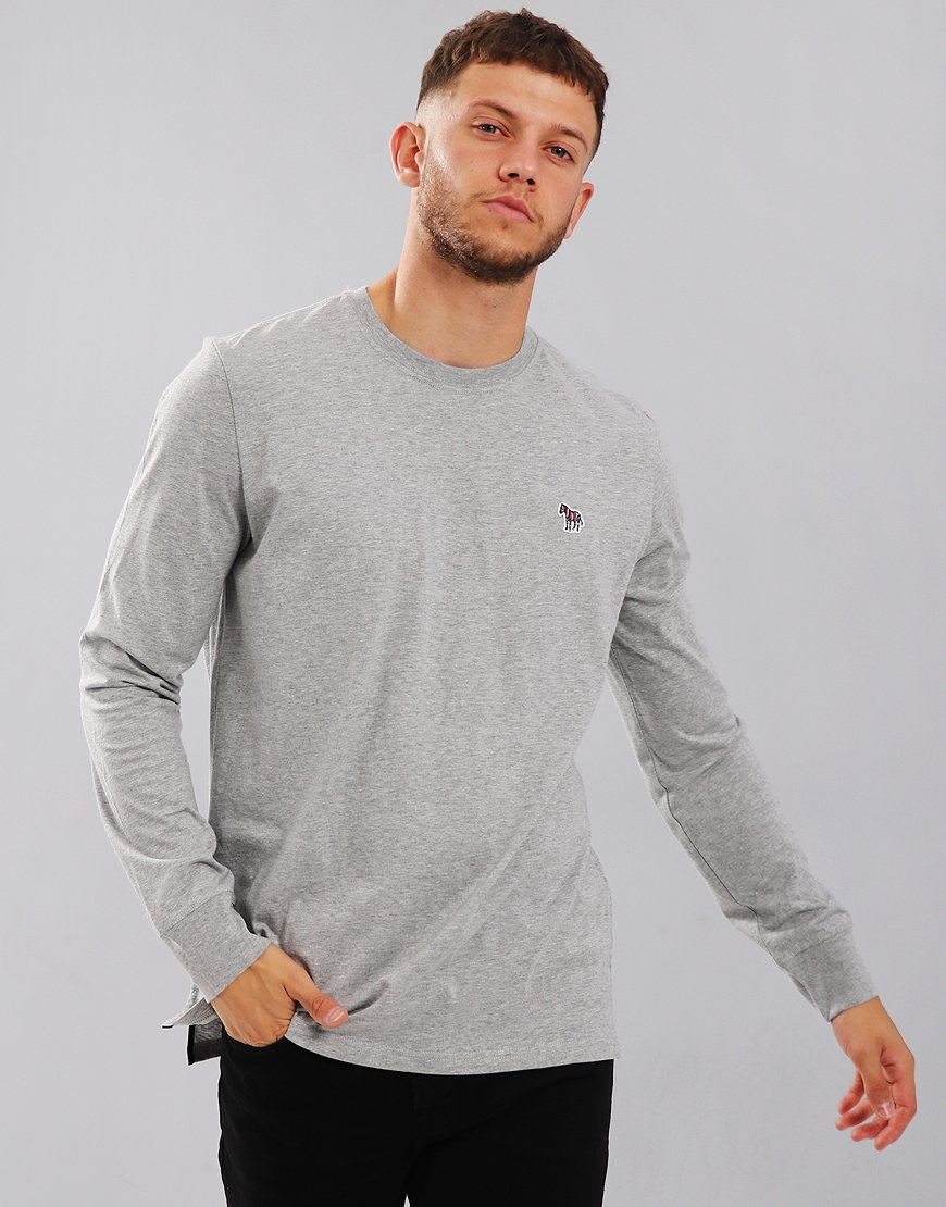 Paul Smith Long Sleeved Regular Fit T-Shirt Grey Melange
