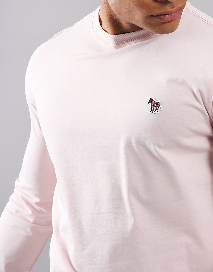 Paul Smith Long Sleeved Regular Fit T-Shirt Pink