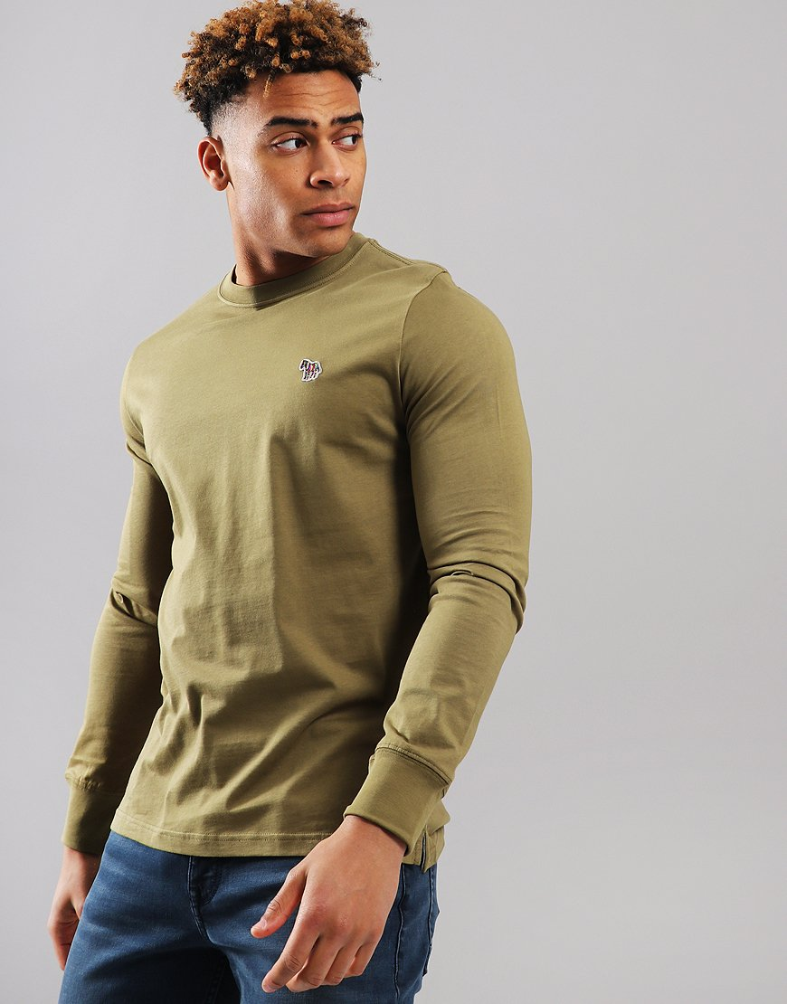 Paul Smith Long Sleeve Regular Fit T-Shirt Military Green