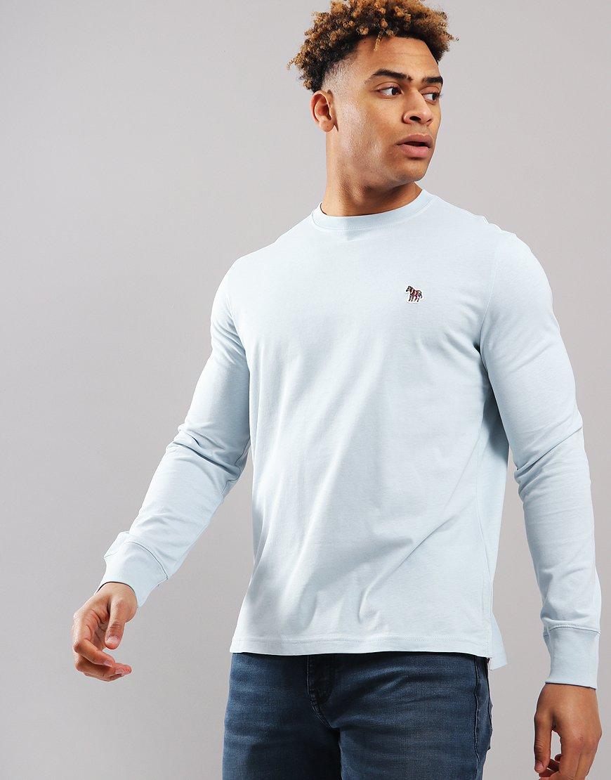 Paul Smith Long Sleeve Regular Fit T-Shirt Light Blue