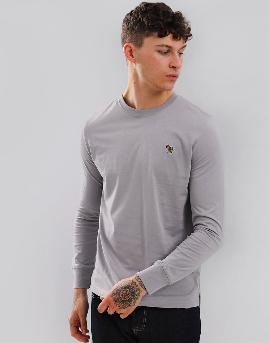 Paul Smith Long Sleeved Regular Fit T-Shirt Smoke