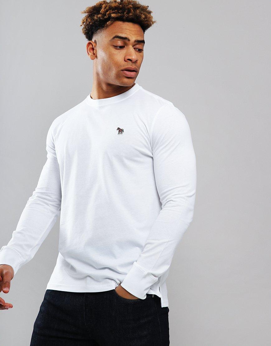 Paul Smith Long Sleeved Regular Fit T-Shirt White