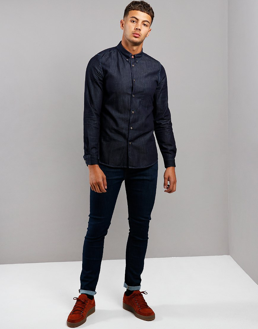Paul Smith Long Sleeve Tailored Fit Shirt Rinse Wash