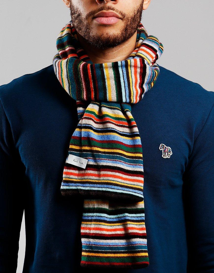 7d1cec09c60 Paul Smith Knitted Scarf Multistripe - Terraces Menswear