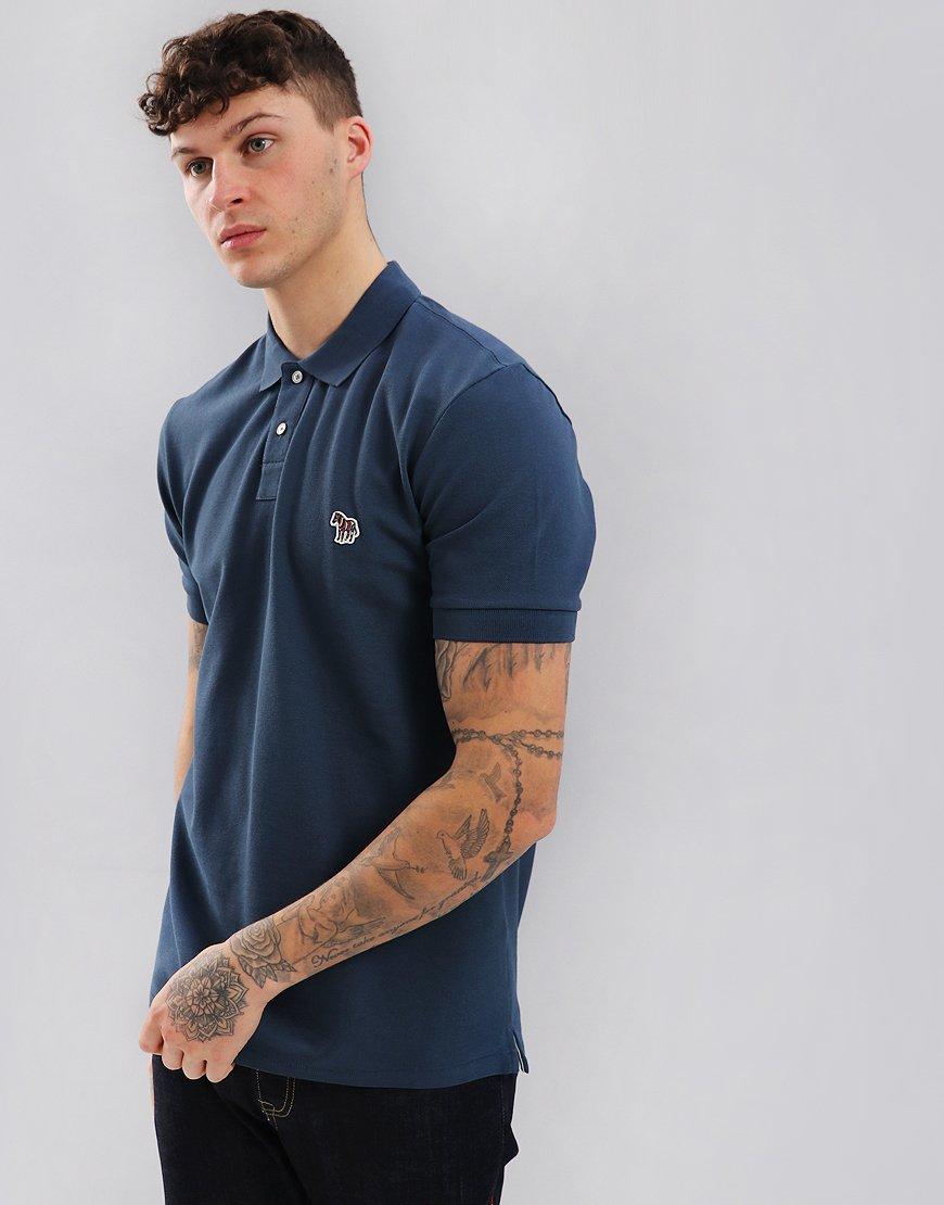 ac2015a5 Paul Smith Zebra Logo Polo Shirt Turquoise - Terraces Menswear