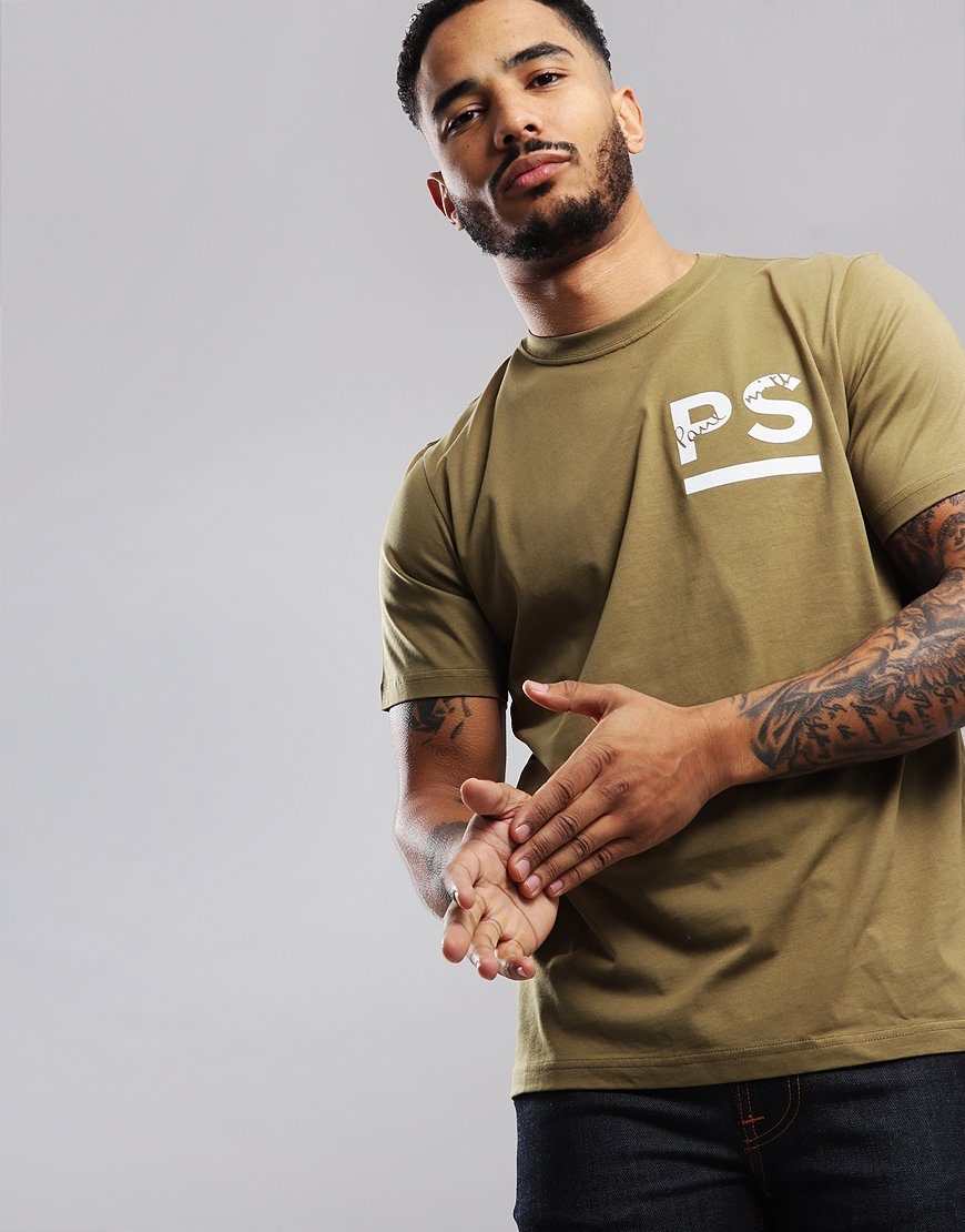 Paul Smith PS Chest Logo T-Shirt Military Green