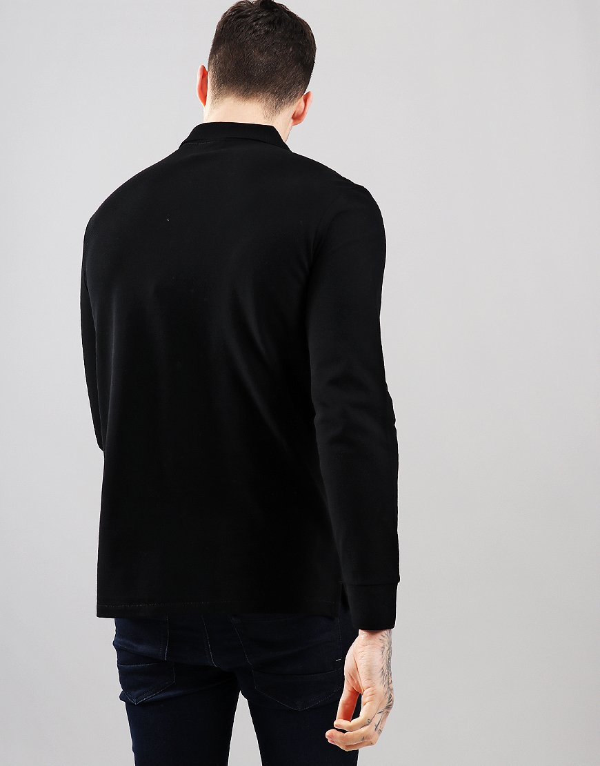 Paul Smith Long Sleeve Polo Shirt Black