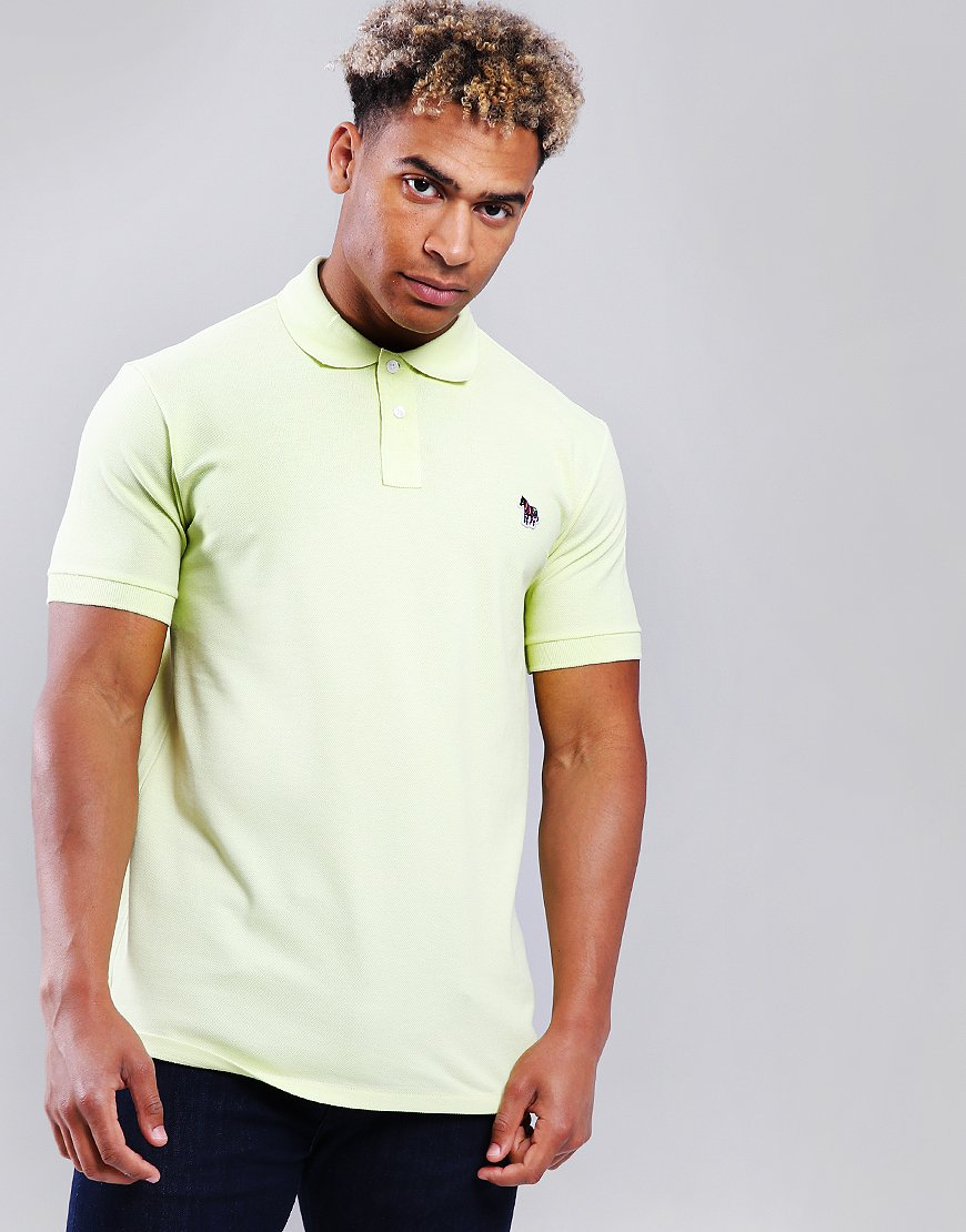 Paul Smith Zebra Logo Polo Shirt Lemon