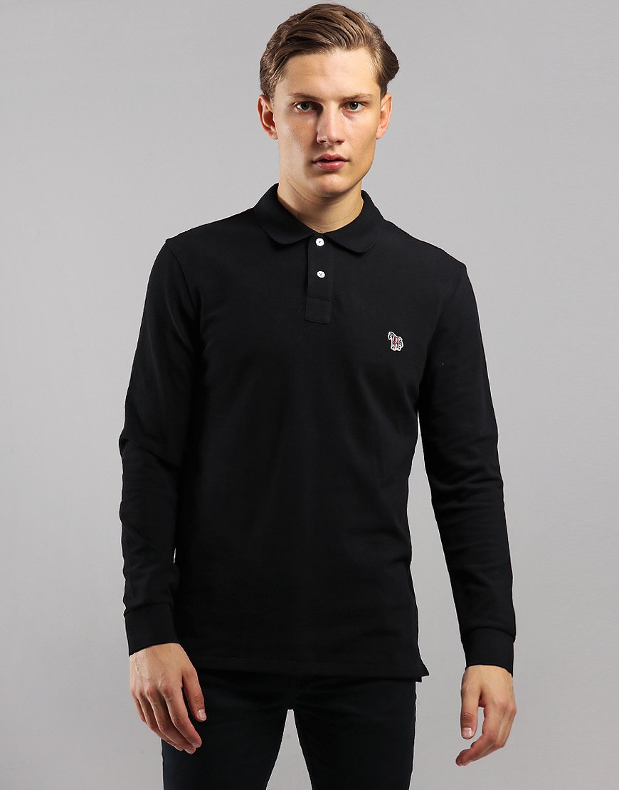 Paul Smith Long Sleeve Regular Fit Polo Shirt Black