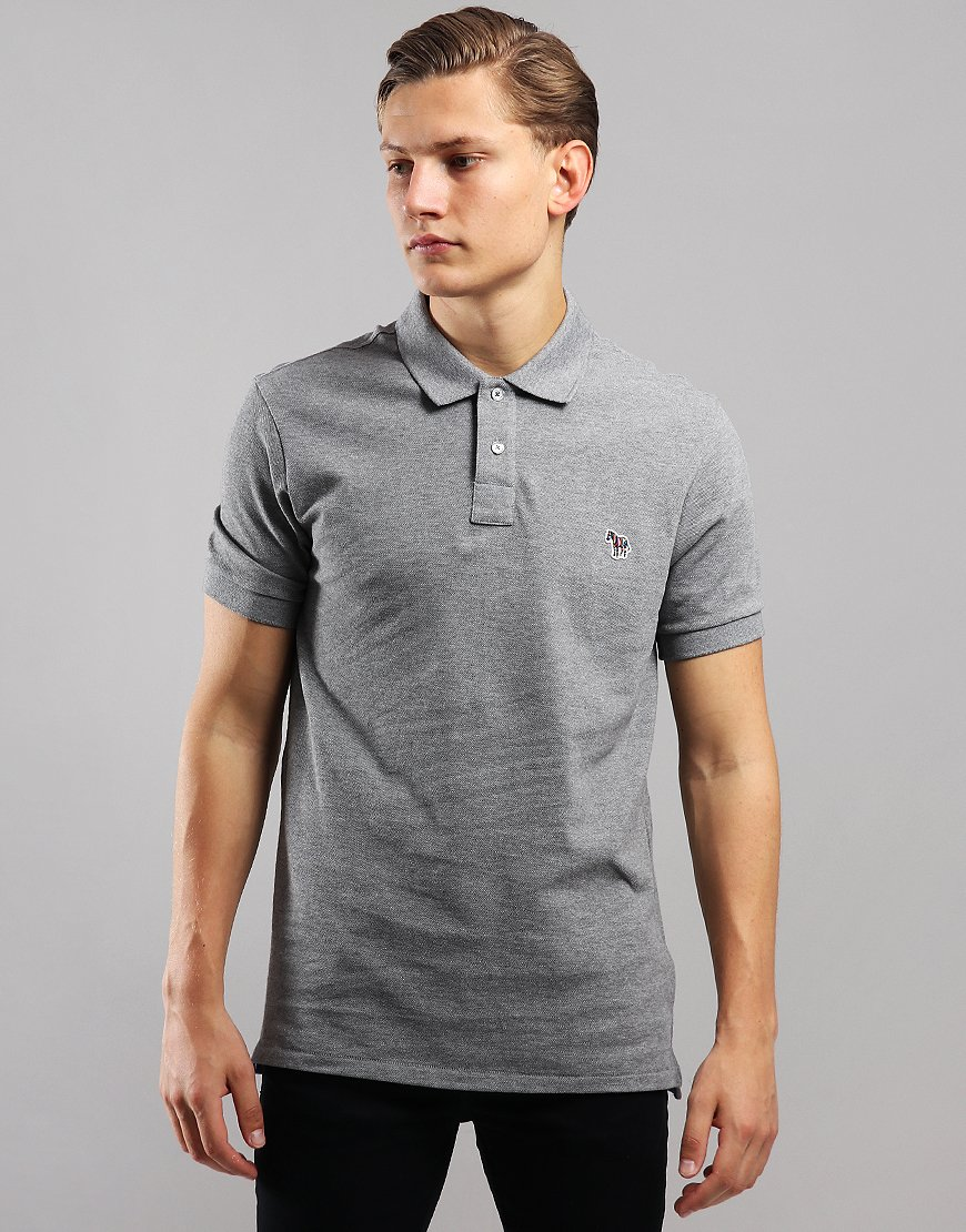 Paul Smith Regular Fit Polo Shirt Grey Melange