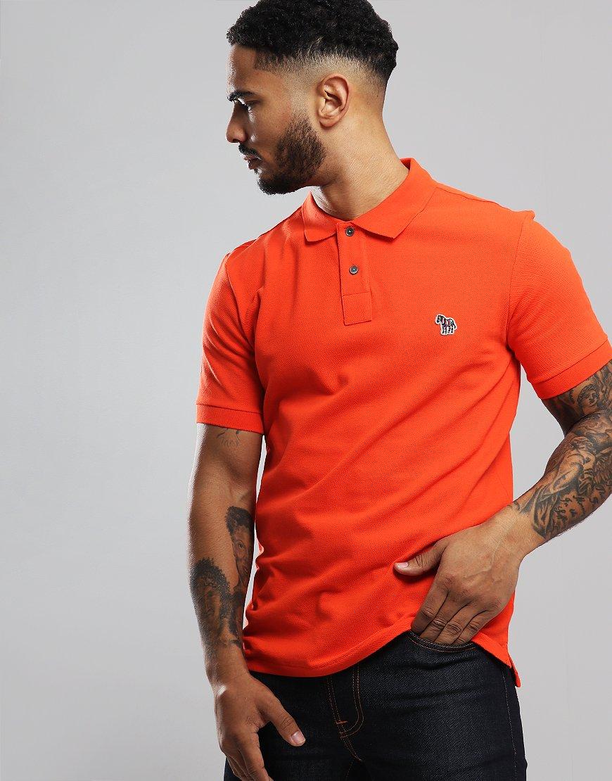 Paul Smith Zebra Logo Polo Shirt Orange