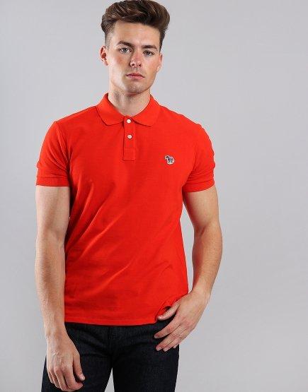 Paul Smith Zebra Logo Polo Shirt Red