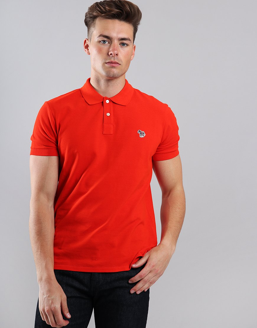 Paul Smith Zebra Logo Polo Shirt Red