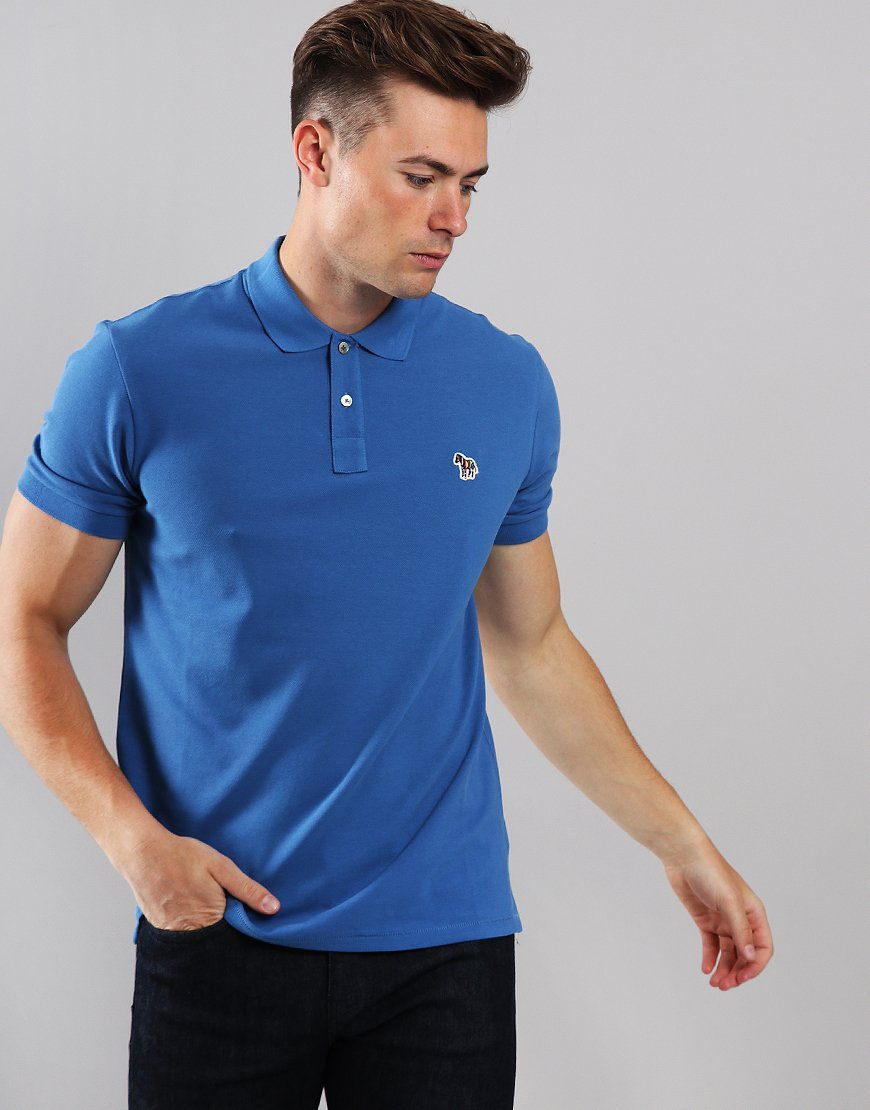 Paul Smith Zebra Logo Polo Shirt Coblu