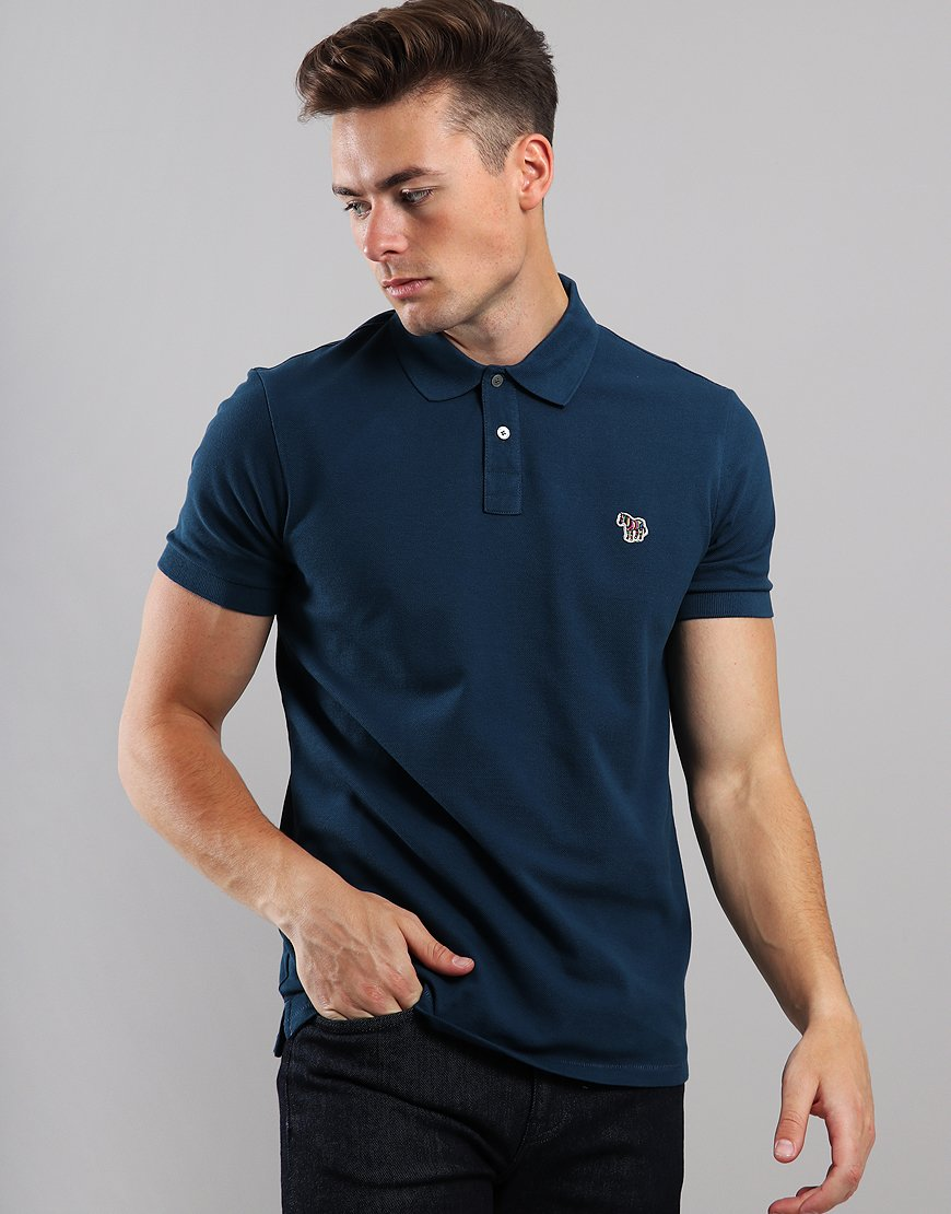 Paul Smith Zebra Logo Polo Shirt Navy