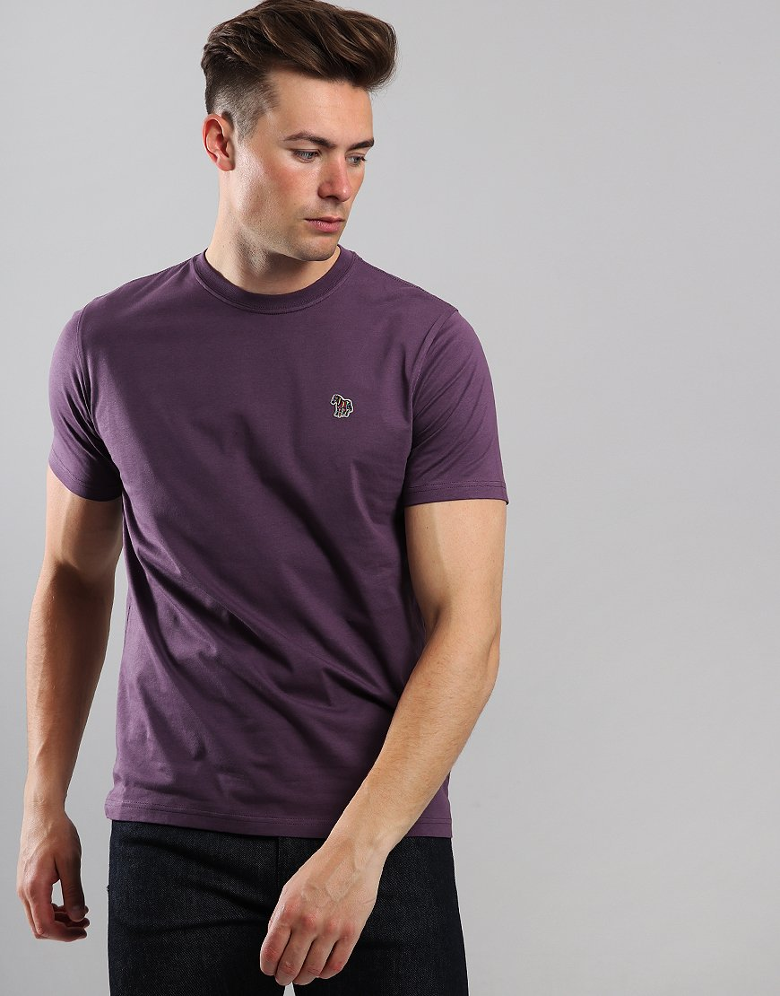 Paul Smith Zebra Logo T-Shirt Aubergine