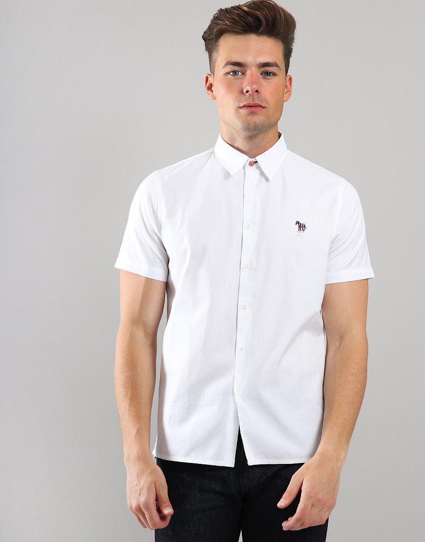 Paul Smith Short Sleeve Zebra Badge Shirt White