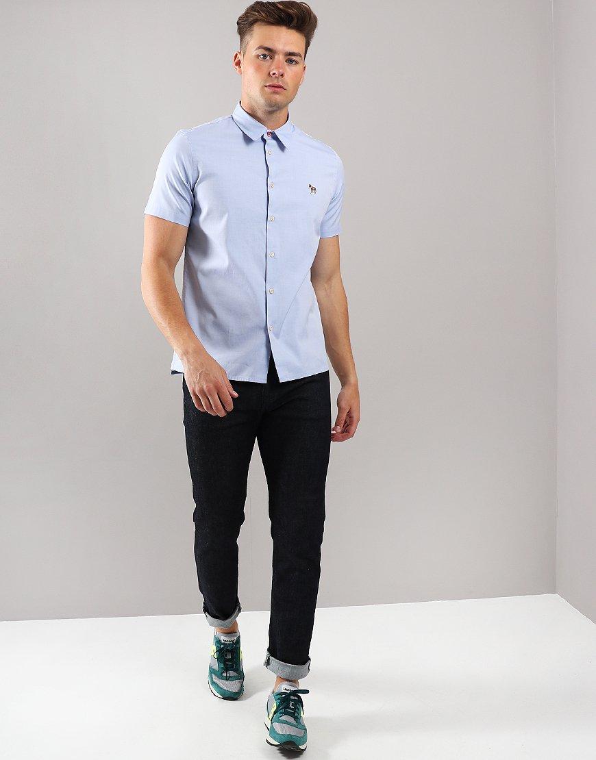 Paul Smith Short Sleeve Zebra Badge Shirt Pastel Blue