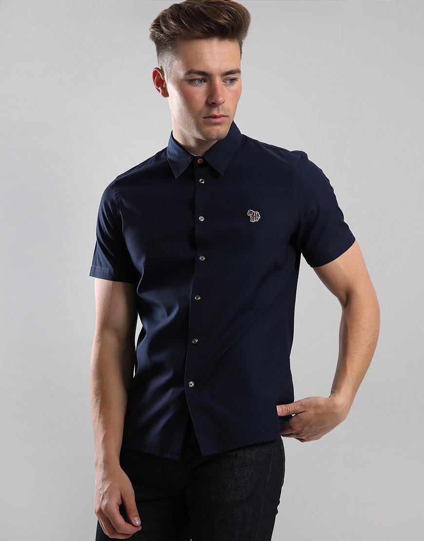 Paul Smith Short Sleeve Zebra Badge Shirt Inky
