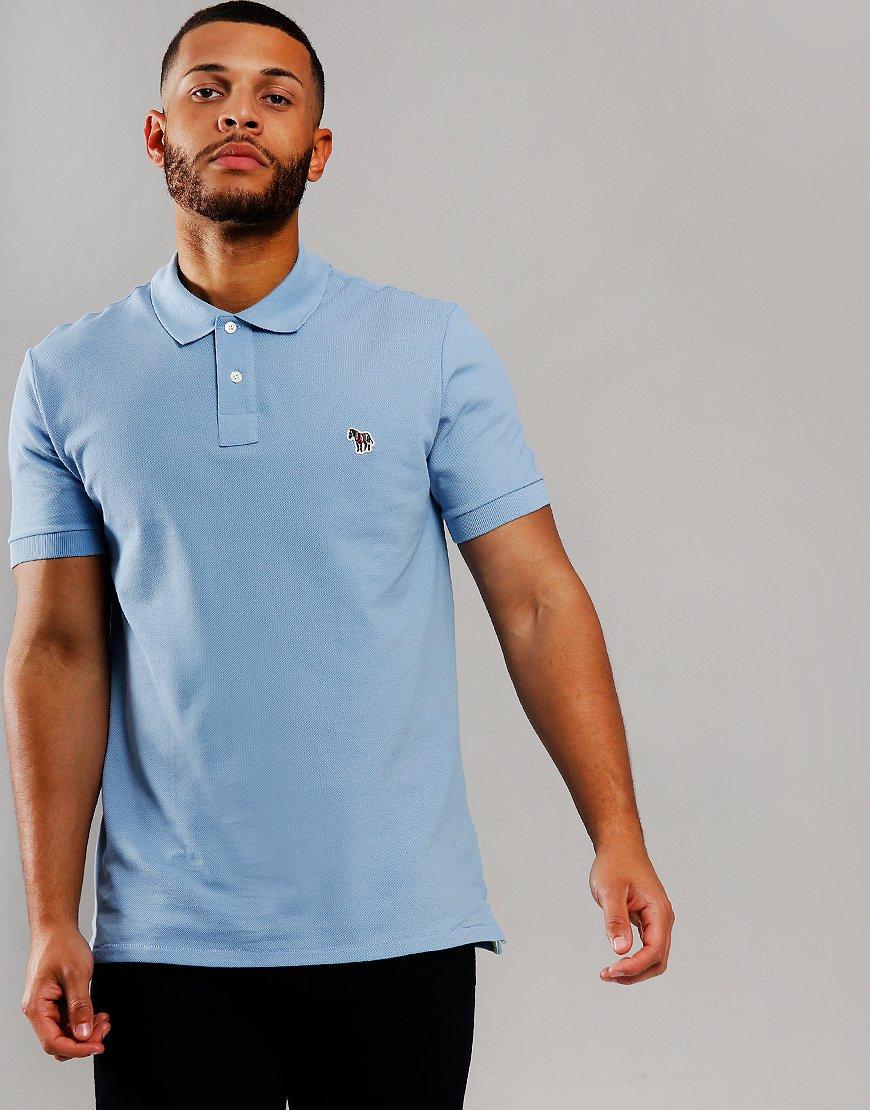Paul Smith Regular Fit Polo Shirt Petrol Blue