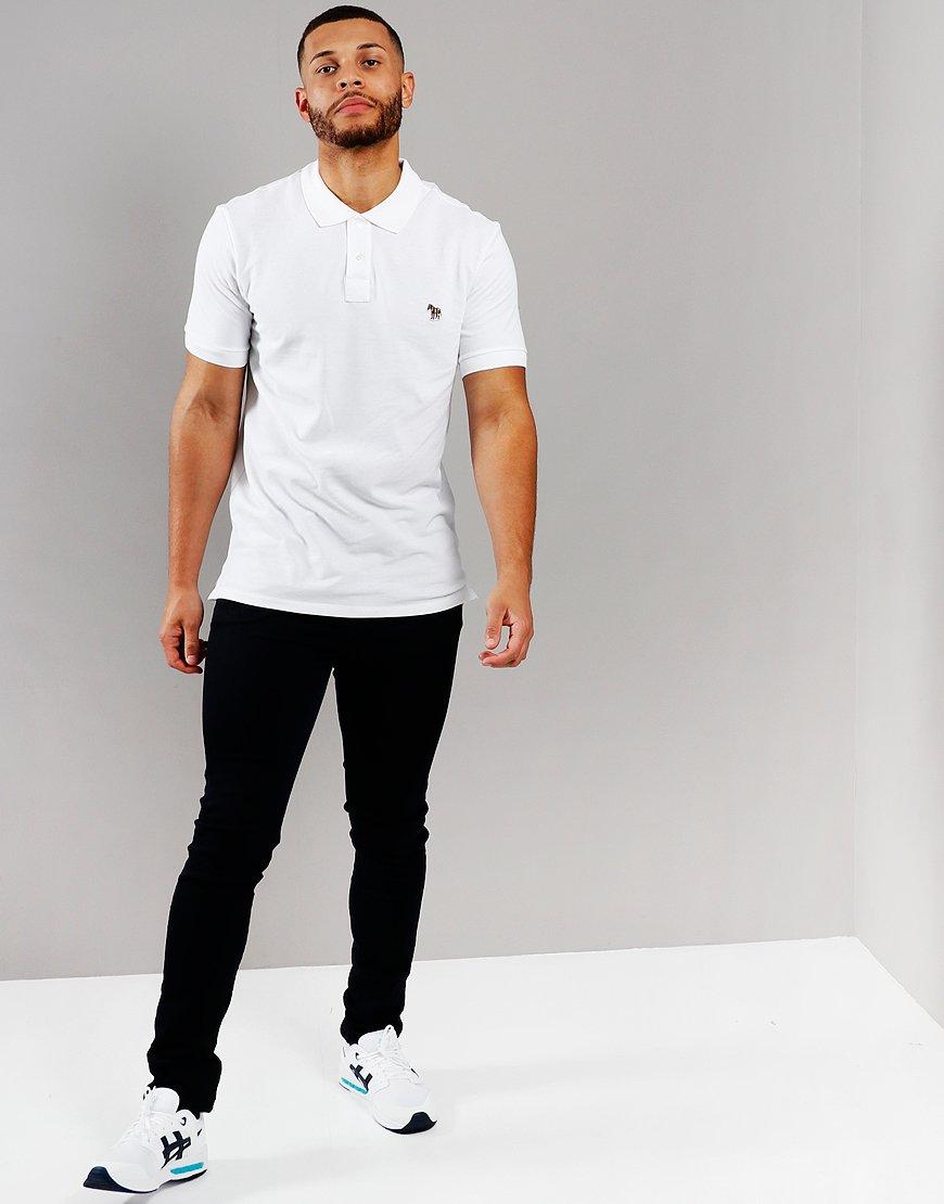 Paul Smith Zebra Logo Polo Shirt   White