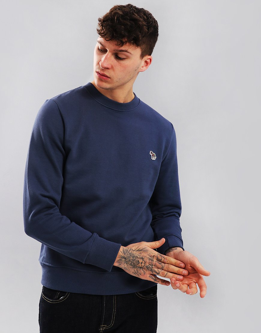 Paul Smith Zebra Logo Sweatshirt Grey Blue