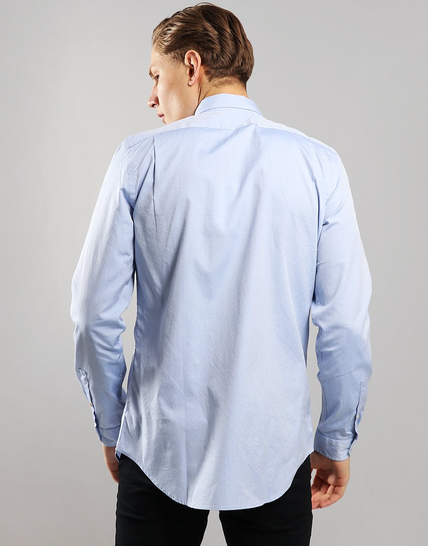 Paul Smith Tailored Fit Long Sleeve Shirt Pastel Blue