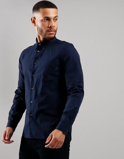 Paul Smith Tailored Pocket Long Sleeve Shirt Inky