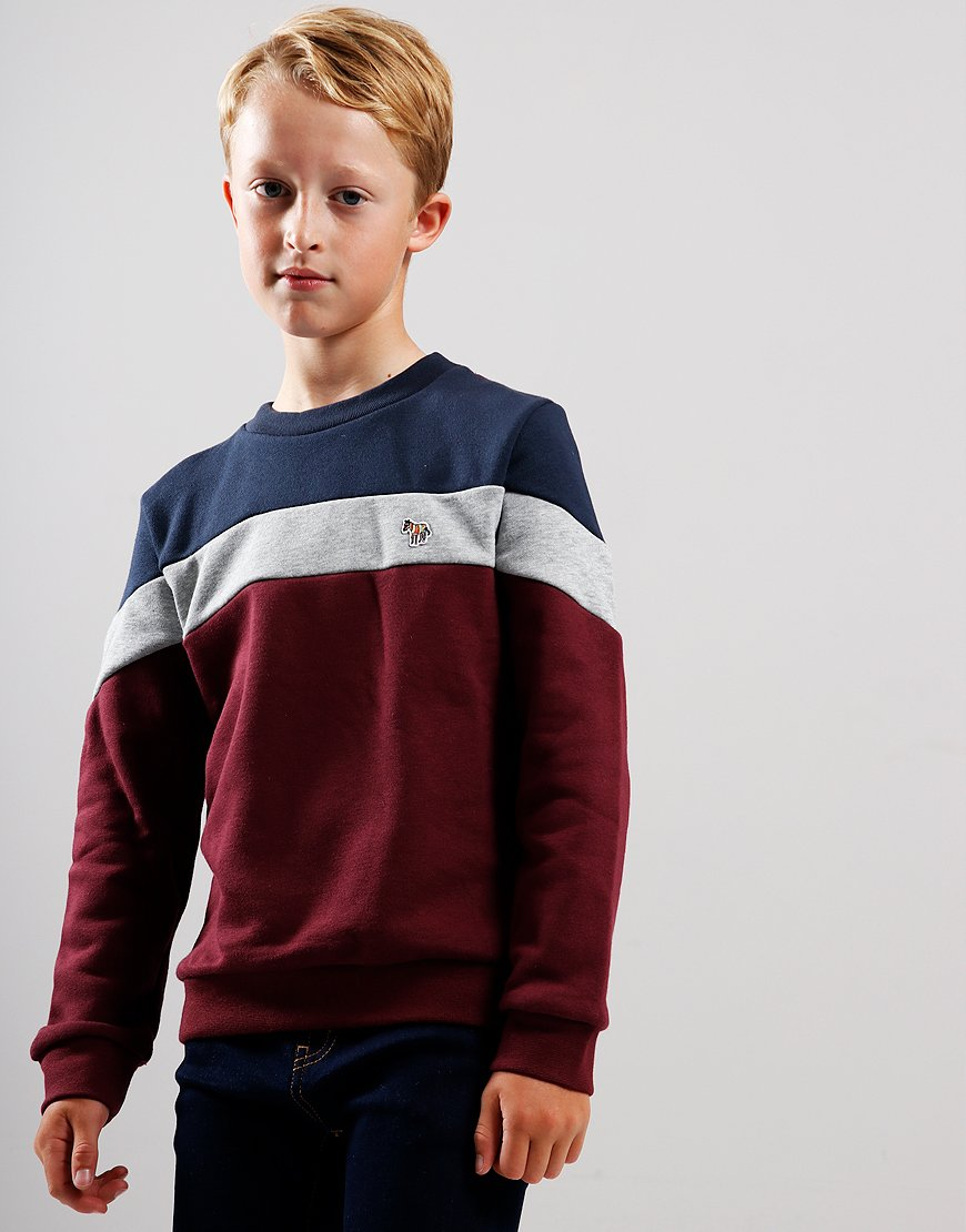Paul Smith Junior Vasco Sweat Burgundy