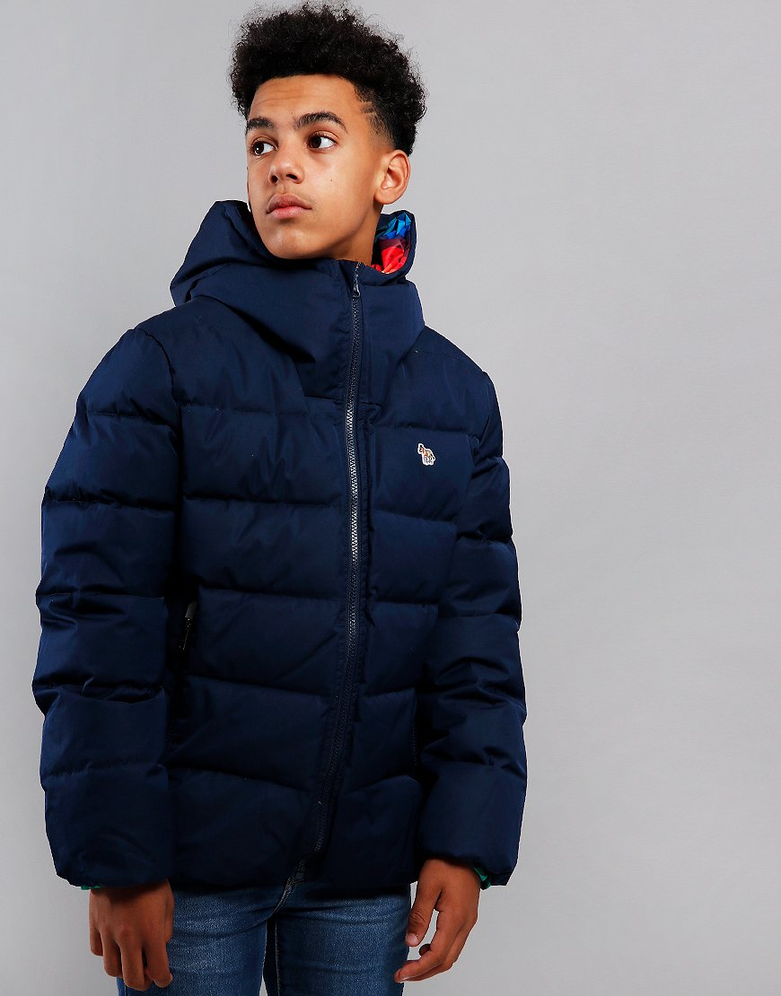 Paul Smith Junior Victorius Reversible Puffer Jacket Navy