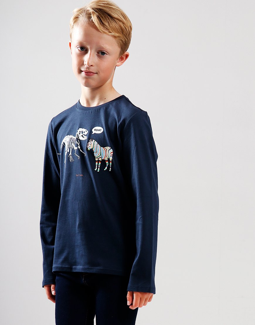 Paul Smith Junior Vladou Long Sleeve T-Shirt Navy