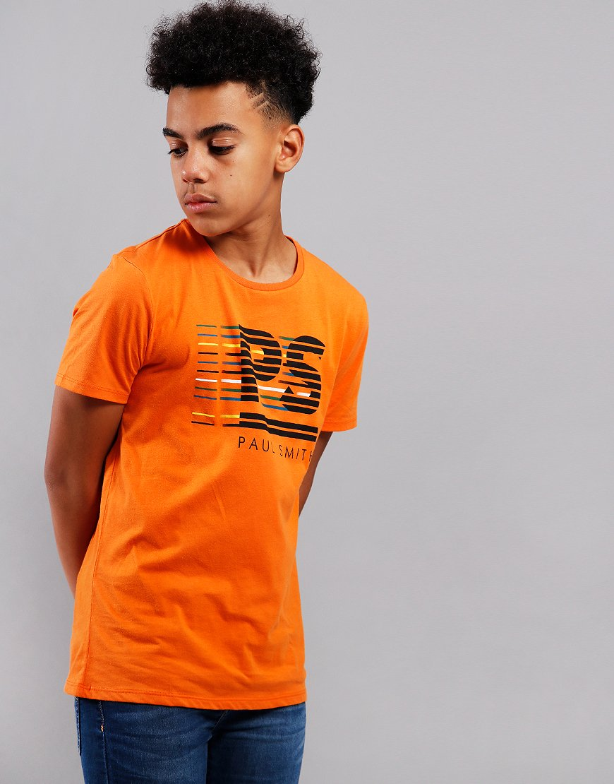 Paul Smith Junior Voilou PS Print T-Shirt Pumpkin Orange