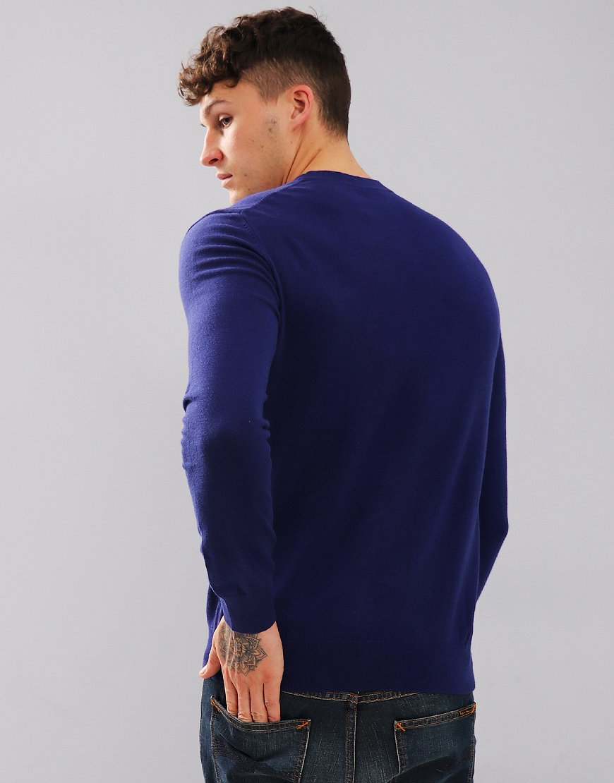 Paul Smith Zebra Logo Cotton Blend Knit Cobalt Blue