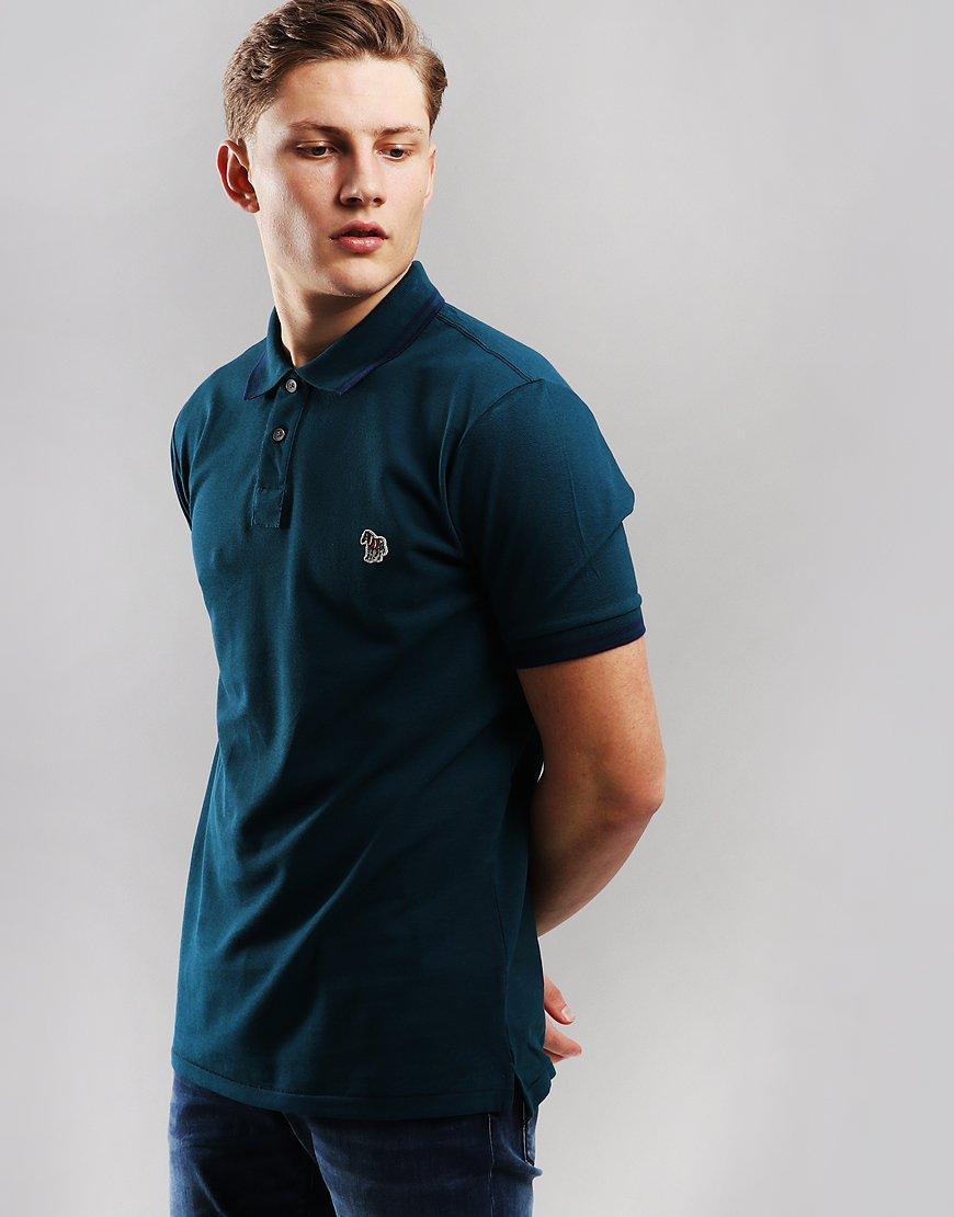 Paul Smith Tipped Polo Shirt Inky