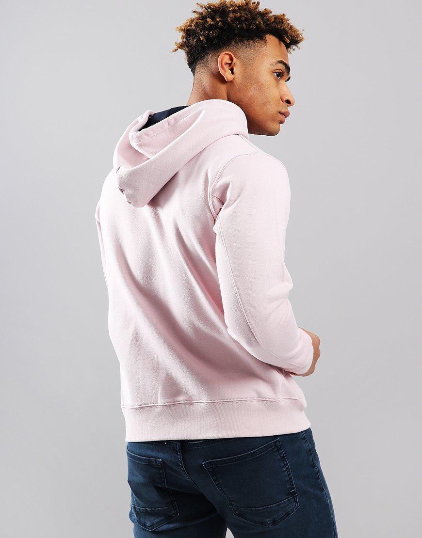 Paul Smith Zip Front Zebra Logo Hoodie Pink