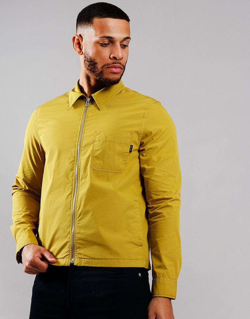 Paul Smith Stretch Cotton Garment Dyed Overshirt Gold