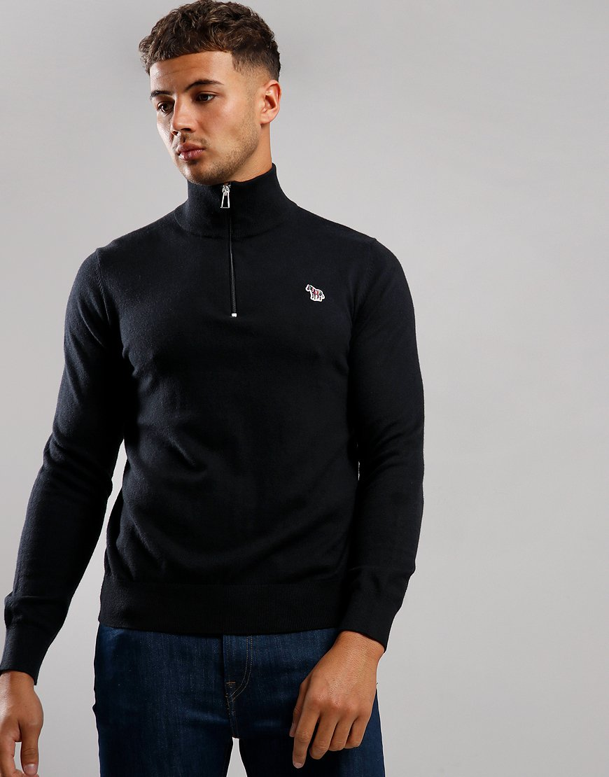 Paul Smith Zip Pullover Knit Black