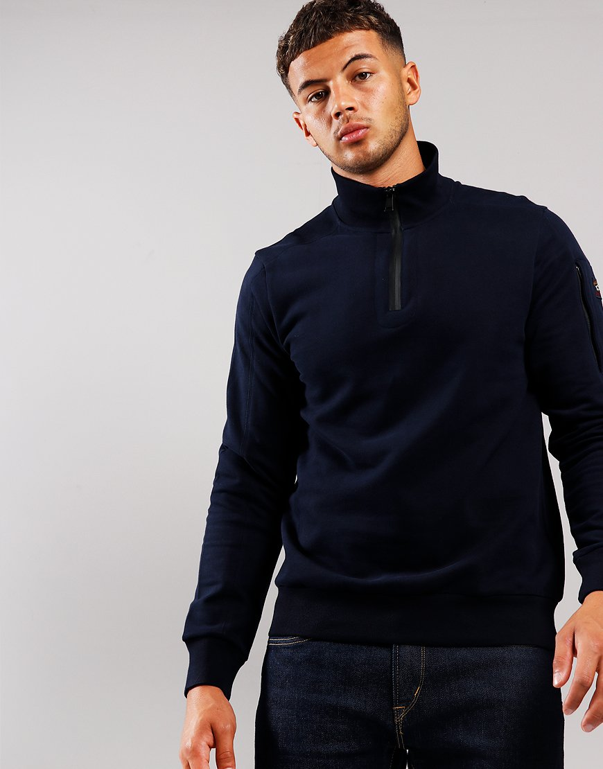 Paul & Shark Half Zip Sweat Blue
